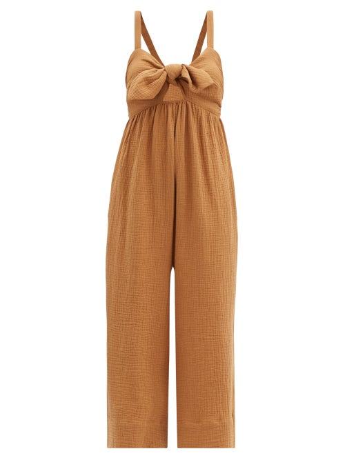 Loup Charmant - Triton Organic-cotton Jumpsuit - Womens - Camel