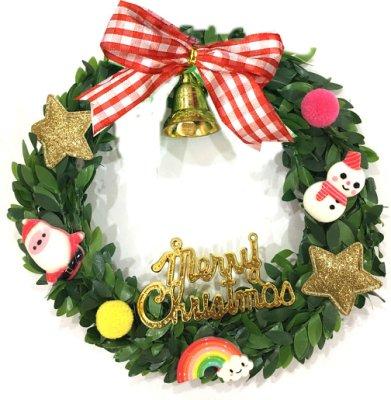 【洋洋小品甜心聖誕馬卡龍小花圈】蘇格蘭小裝飾聖誕樹 桃園平鎮中壢 桌上聖誕擺飾 聖誕燈 聖誕花圈 聖誕球 社區公司機關