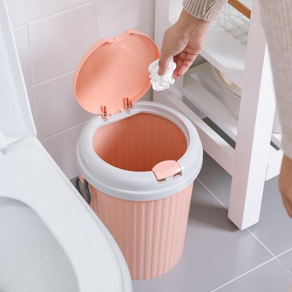 垃圾桶 家用帶蓋垃圾桶廚房廚余廁所衛生間客廳創意大號小號帶蓋馬桶紙簍【快速出貨八折搶購】