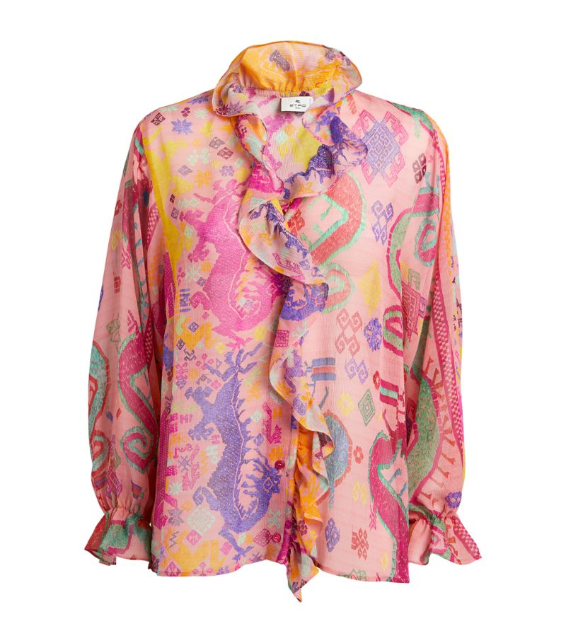 Etro Patterned Frill Blouse