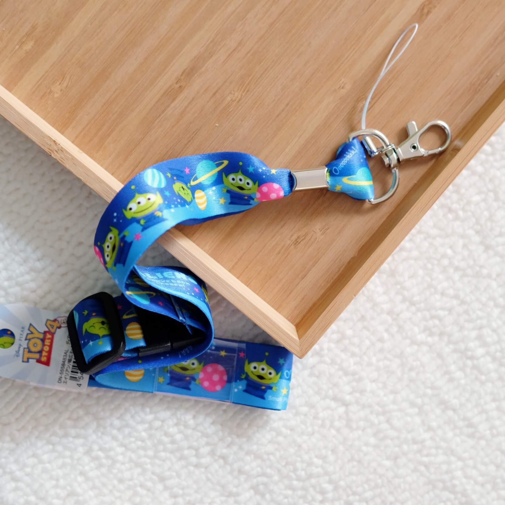 《玩具總動員》日本商品 三眼怪萬用掛繩 手機繩 證件帶 安全扣 toystory