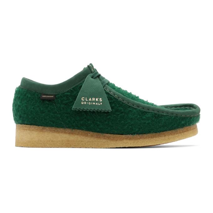 Aime Leon Dore 绿色 Clarks Original 联名 Wallabee 莫卡辛鞋