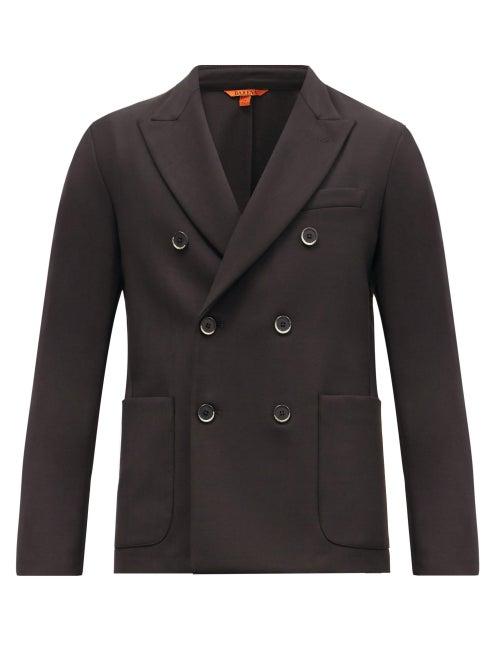 Barena Venezia - Mosto Double-breasted Twill Suit Jacket - Mens - Black