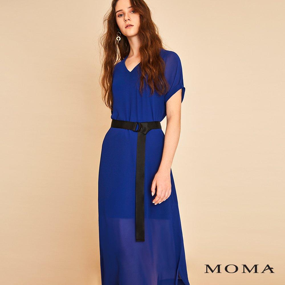 MOMA(01D030)落肩透視長洋裝
