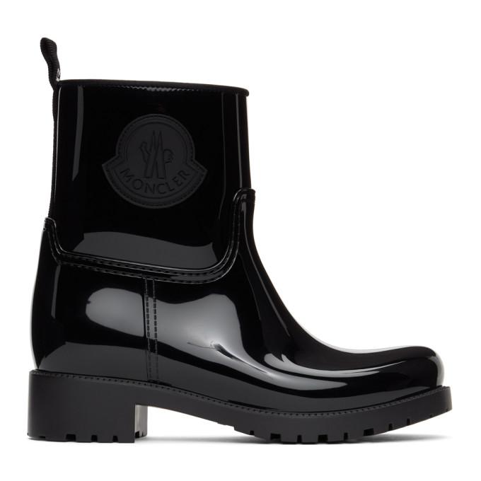 Moncler 黑色 Ginette 橡胶踝靴