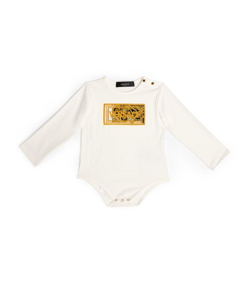 Versace Kids Baroque '90S Vintage Logo Bodysuit (3-18 Months)