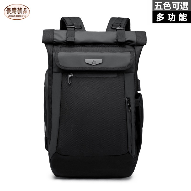【YOGO優購】ozuko新款韓版旅行雙肩包 創意休閒 usb充電 雙肩包 男 防水 電腦雙肩包 後背包 旅行包