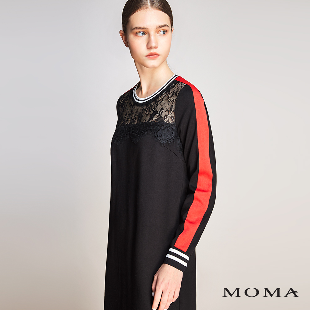 MOMA(01D025)跳色蕾絲洋裝