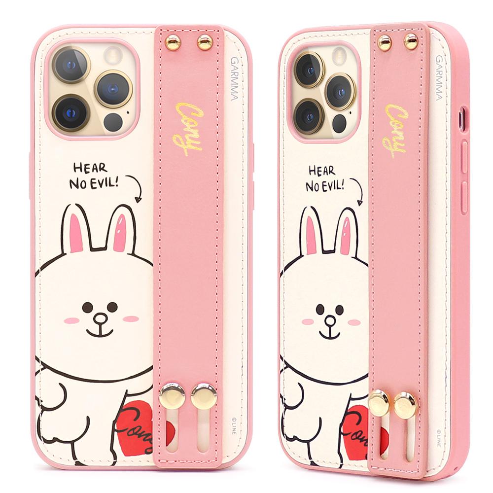 LINE FRIENDS iPhone12/Mini/Pro/ProMax 手機保護套 皮革 兔兔 熊大 | OMG買瘋樂