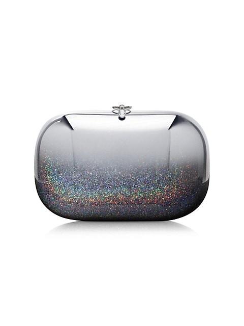 Elina Plus Mirrored Ombré Glitter Clutch