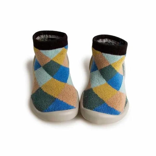 法國 Collegien 手工襪鞋 簡約菱格 (20-25)