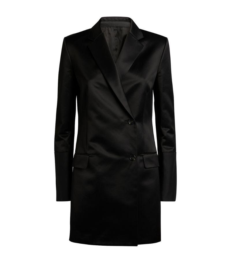 Helmut Lang Satin Blazer Dress