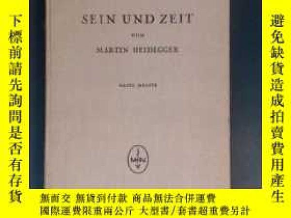 二手書博民逛書店存在與時間罕見Sein Zeit 德文原版 1935 布面精裝Y30118 Martin Heidegger