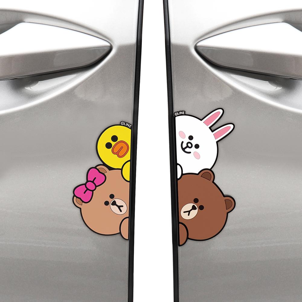 LINE FRIENDS 防撞條 車用配件 兔兔 熊大 熊美   OMG買瘋樂