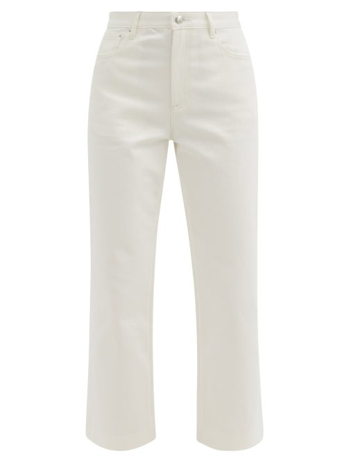 A.P.C. - Sailor High-rise Cropped Jeans - Womens - White