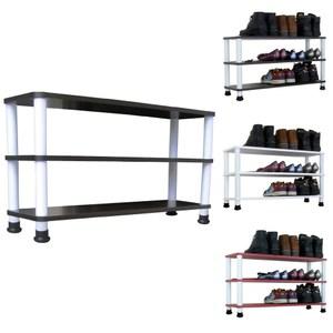 【頂堅】寬80公分-三層[寬型]鞋架/鞋櫃/置物架(二色可選)深胡桃木色