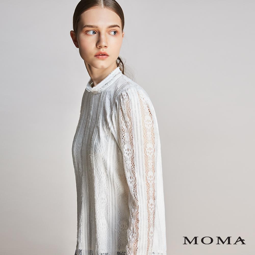 MOMA(01G036)傘狀壓褶寬袖上衣