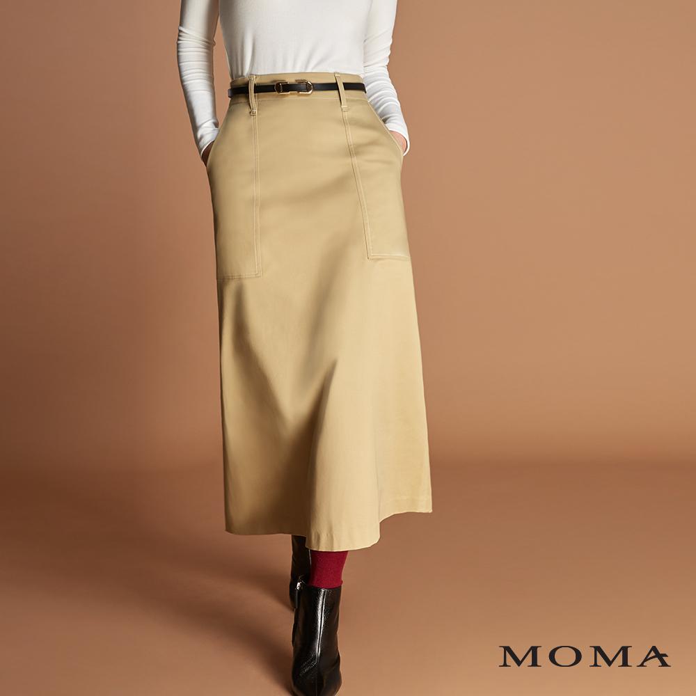 MOMA(01S020)扣環腰帶A字裙