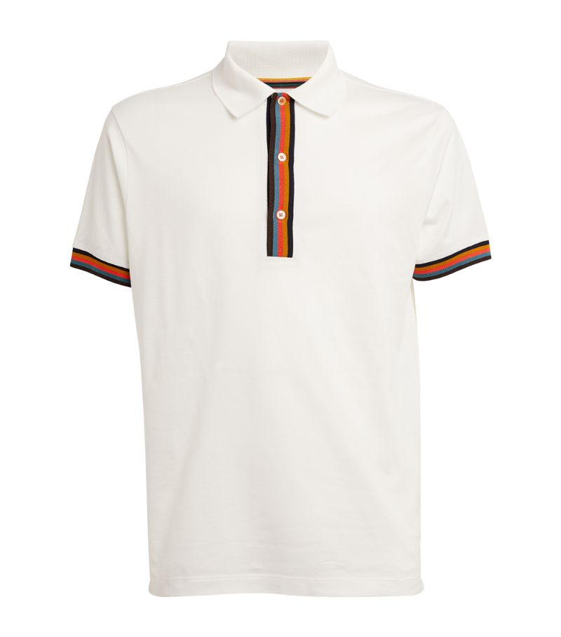 Paul Smith Signature Stripe-Detail Polo Shirt