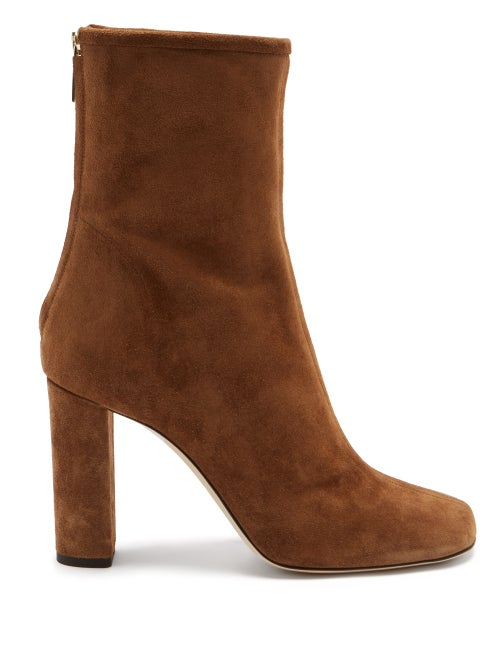 Paris Texas - Square-toe Suede Ankle Boots - Womens - Tan