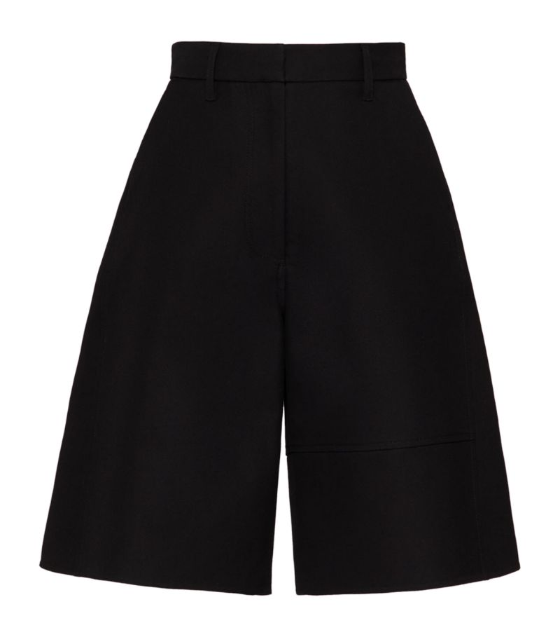 Valentino Cotton Bermuda Shorts