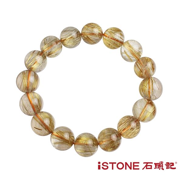 天然鈦晶手鍊-財富巔峰(唯一精品) 石頭記