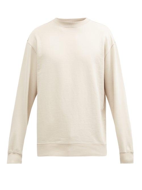 Another Aspect - Organic-cotton Jersey Sweatshirt - Mens - Light Beige