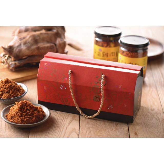 【益可福生態牧場】茶葉益菌雞肉鬆禮盒 (150克/2罐)