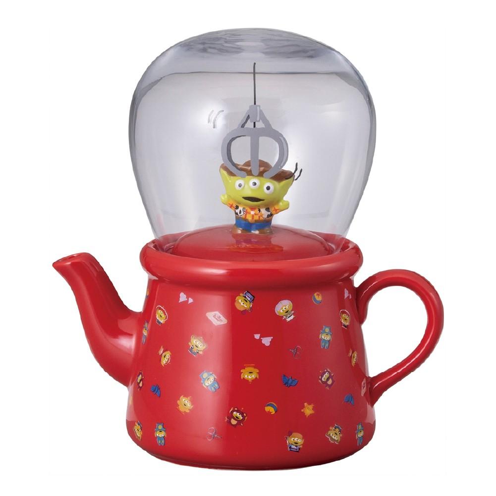 現貨 迪士尼三眼仔茶壺組/日本迪士尼正版 茶壺 水杯 陶瓷杯 茶杯 有蓋 三眼仔 三眼怪 聖誕交換禮物【B&B幸福雜貨】