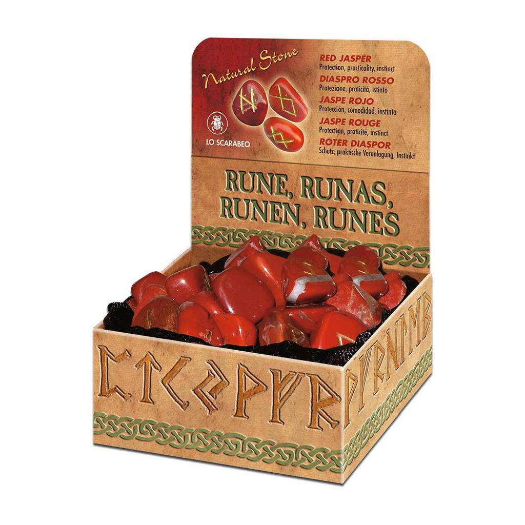 紅璧玉盧恩符文石 | Red Jasper Runes【左西購物網】