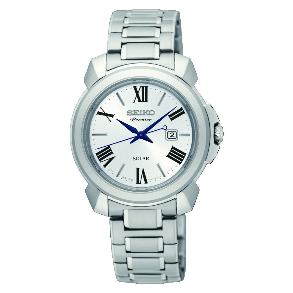 SEIKO 精工 V137-0CT0S(SUT321J1) Premier 典雅羅馬太陽能腕錶 31mm