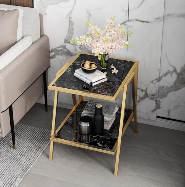 茶几 角几 方桌 方幾 邊桌 邊幾 多功能大理石邊幾沙發中間客廳床頭移動角幾茶幾北歐輕奢簡約現代