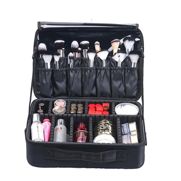 NICELAND化妝包女便攜大容量專業化妝師跟妝品收納包紋繡工具箱盒 安雅家居館