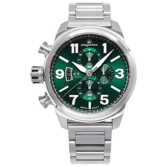 elegantsis 傑本尼氏 ELJT48MQS-OG05MA JT48MQS-經典石英腕錶/綠 45.5mm