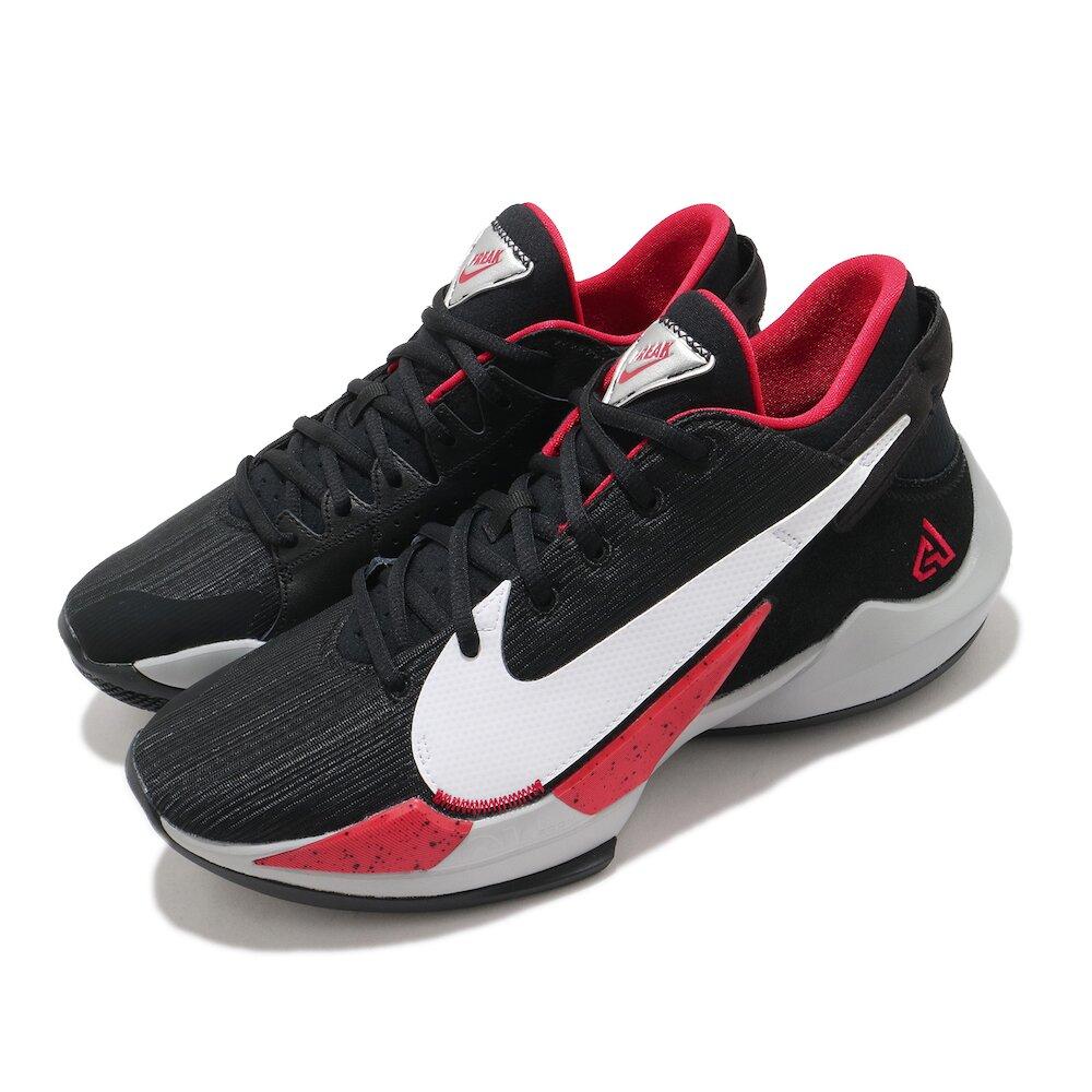 NIKE 籃球鞋 Zoom Freak 2 運動 男鞋 避震 支撐 包覆 明星款 字母哥 球鞋 黑 白 [CK5825-003]