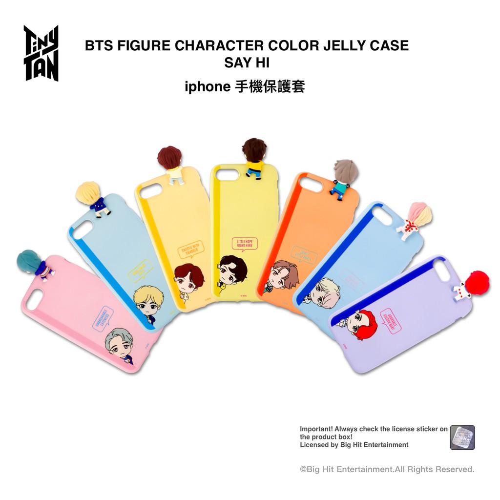 BTS TinyTAN彩色手機保護套SAY HI系列[現貨供應] iphone 7/8/SE