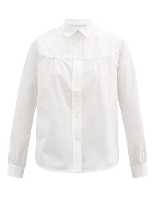 A.P.C. - Pascale Gathered Cotton-poplin Shirt - Womens - White