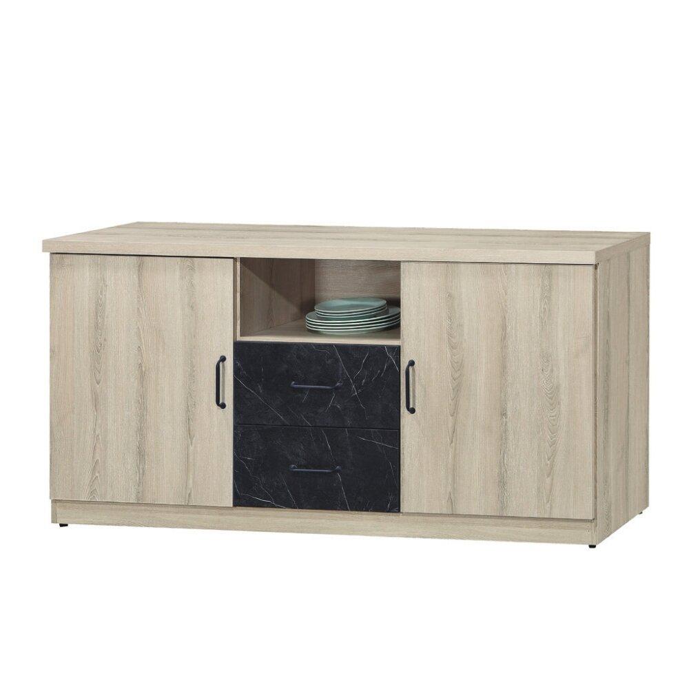 【MUNA】亞倫5.3尺餐櫃/碗盤櫃(711-1)(木面)
