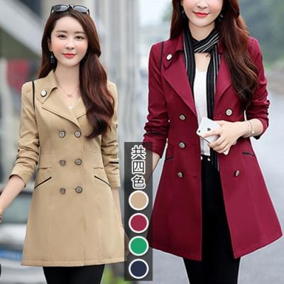 【韓國K.W.】(預購)素雅有型韓版風衣外套