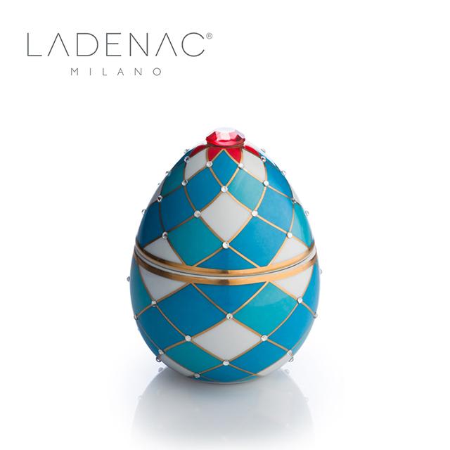 【西班牙皇室香氛 LADENAC】法貝熱彩蛋 淺藍菱格 LIGHT BLUE HARLEQUIN 220克 香氛蠟燭