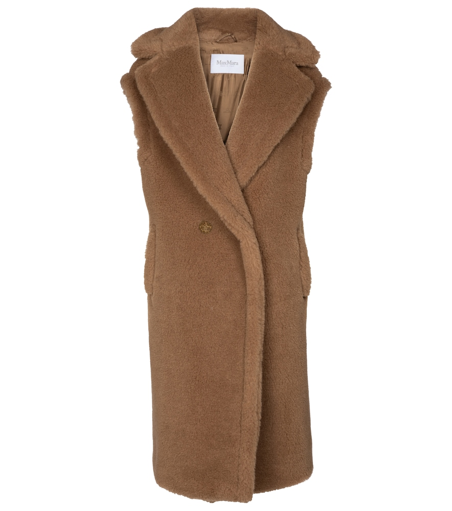 Alce camel wool and silk vest