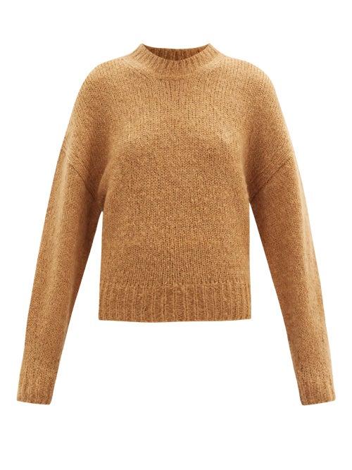 Isabel Marant - Elise Dropped-shoulder Mohair-blend Sweater - Womens - Camel