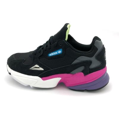 ADIDAS FALCON W女休閒鞋-黑紫-CG6219