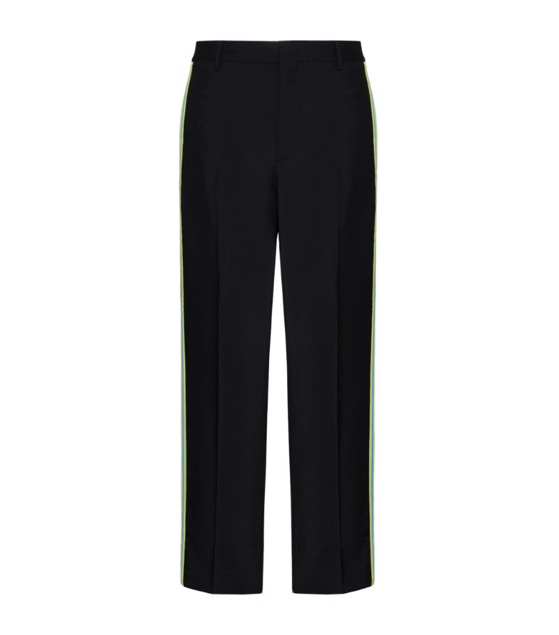 Valentino Wool-Mohair Side-Stripe Trousers