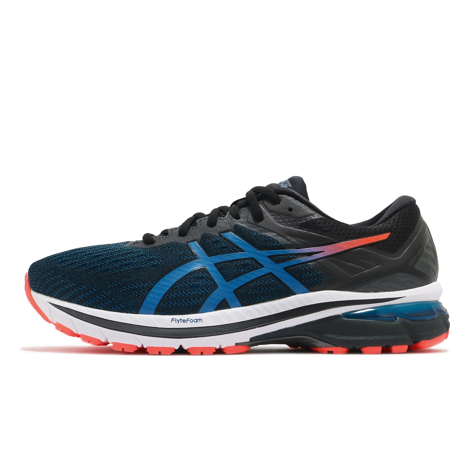 Asics 慢跑鞋 GT-2000 9 寬楦頭 男 藍 黑 橘 高支撐 路跑 運動鞋 【ACS】 1011A984003