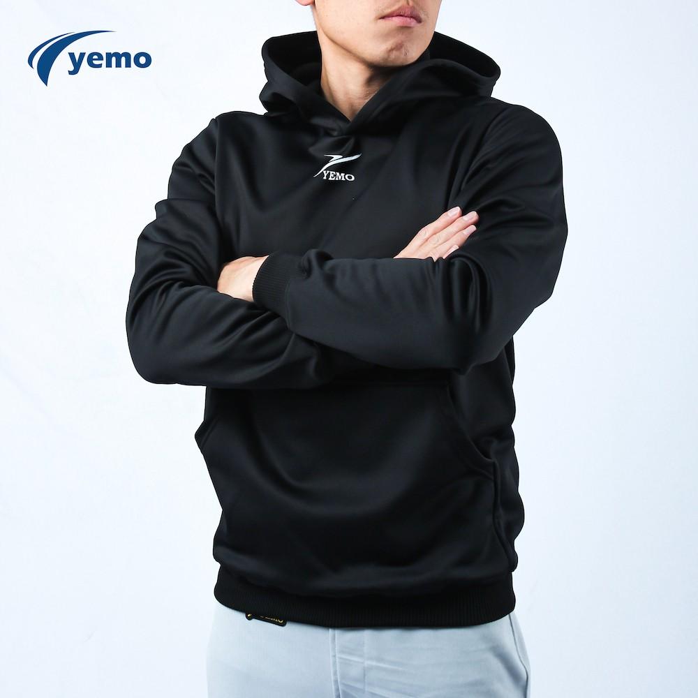 YEMO益茂 加厚連帽T 長袖帽T 刷毛上衣大學T 長袖T恤 情侶帽t 恆溫內刷毛帽T HT017