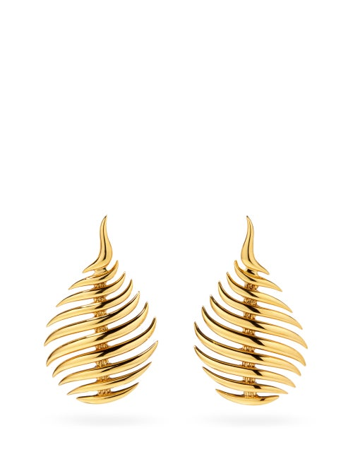 Fernando Jorge - Flame 18kt Gold Drop Earrings - Womens - Yellow Gold