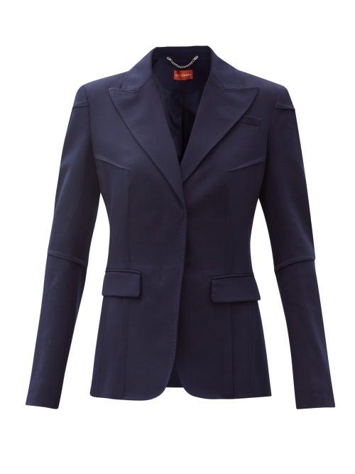 Altuzarra - Beatrix Single-breasted Tropical-wool Blend Jacket - Womens - Navy