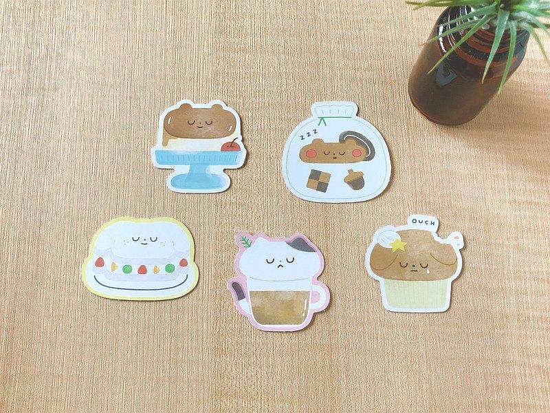 動物甜點系列 / 防水大貼紙 (共5款)