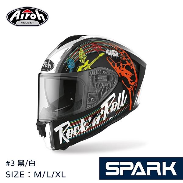 AIROH安全帽,SPARK,史巴克,#3/黑白